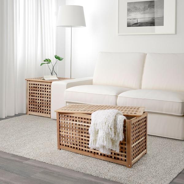 HOL Storage table, acacia, 98x50 cm