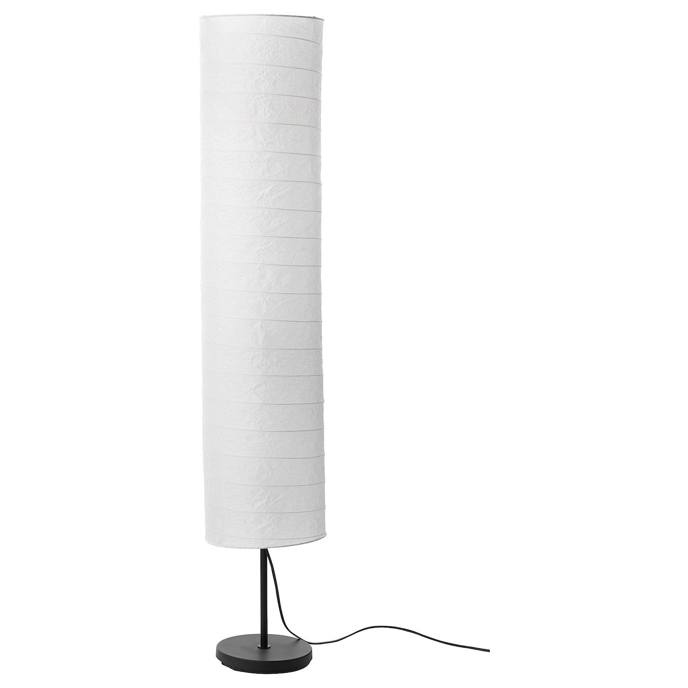 IKEA HOLMO FLOOR LAMP WHITE RICE PAPER