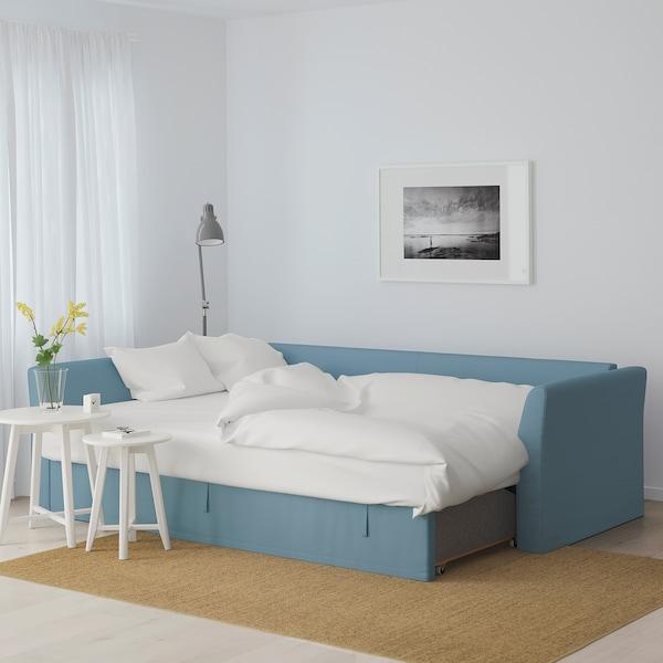 HOLMSUND corner sofa-bed Gräsbo light blue 96 cm 66 cm 151 cm 230 cm 90 cm 120 cm 60 cm 44 cm 140 cm 204 cm