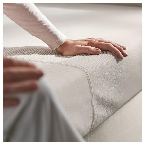 HOLMSUND Three-seat sofa-bed, Gräsbo white