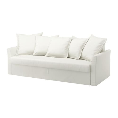 IKEA HOLMSUND three-seat sofa-bed Cover made of durable cotton with a fine, smooth texture.