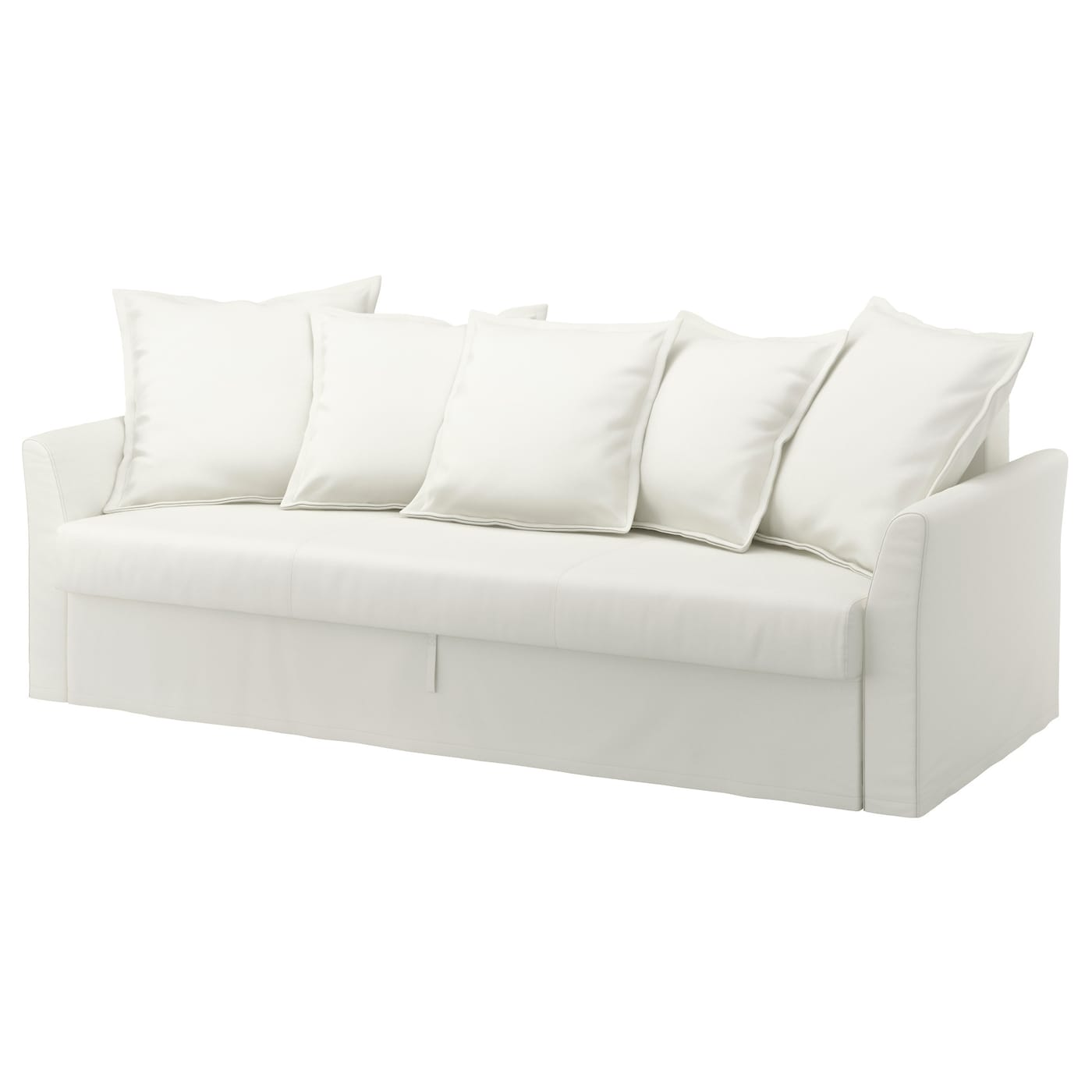 holmsund three seat sofa bed ransta white ikea. Black Bedroom Furniture Sets. Home Design Ideas