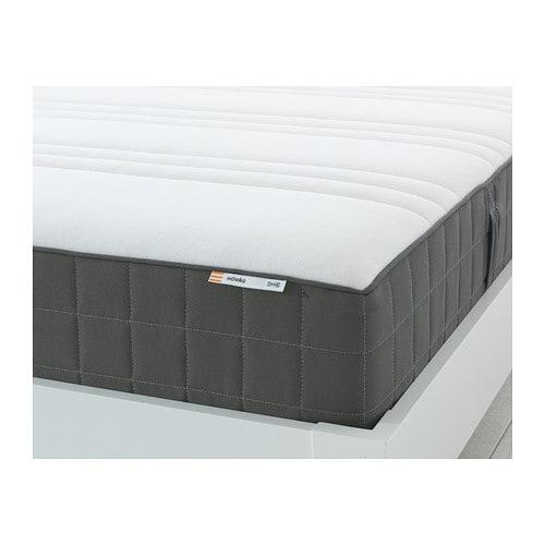 HÖVÅGPocket sprung mattress, firm, dark grey