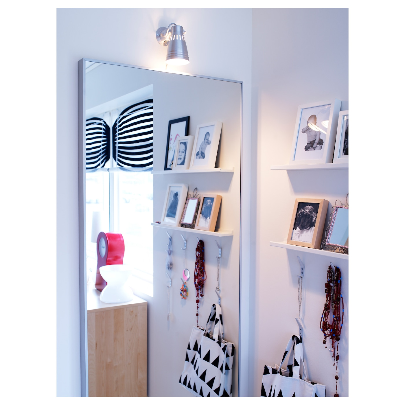 Hovet mirror aluminium 78x196 cm ikea ikea hovet mirror can be hung horizontally or vertically amipublicfo Gallery
