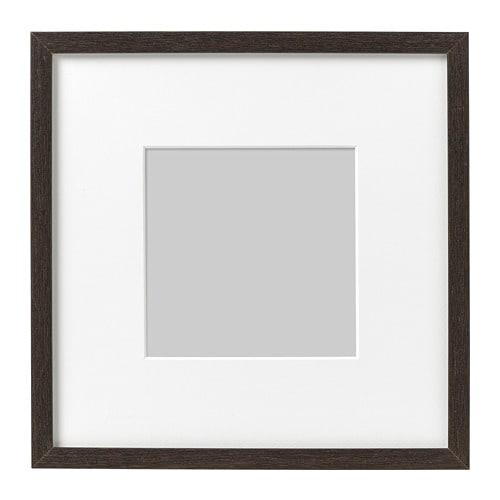 hovsta frame dark brown 23 x 23 cm ikea. Black Bedroom Furniture Sets. Home Design Ideas