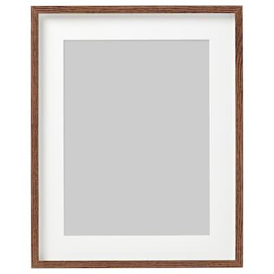 HOVSTA Frame, medium brown, 40x50 cm