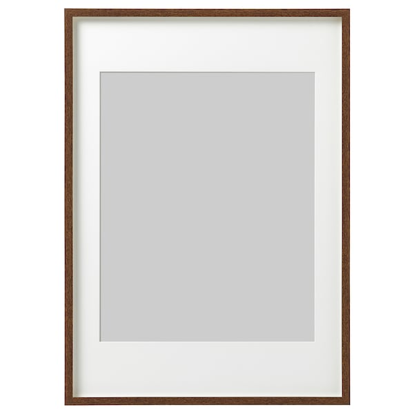 HOVSTA Frame, medium brown, 50x70 cm