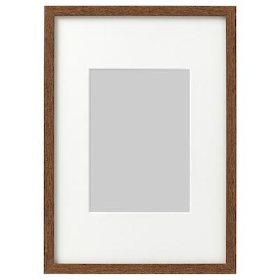 HOVSTA Frame, medium brown, 21x30 cm