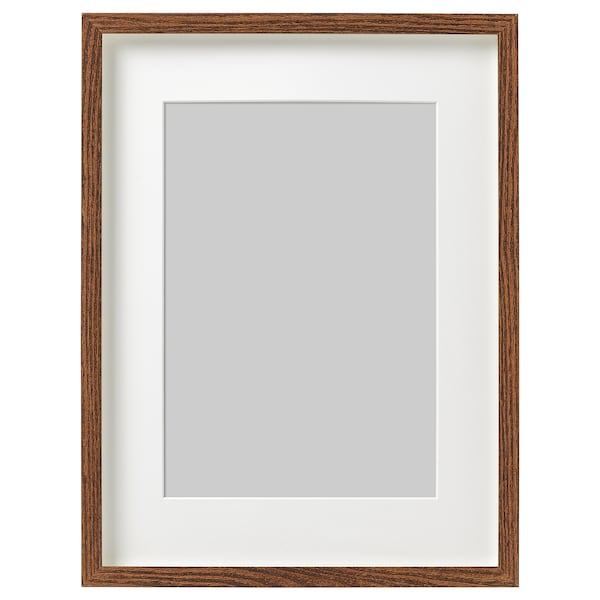 HOVSTA Frame, medium brown, 30x40 cm