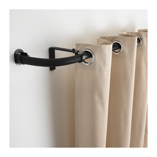 hugad curtain rod combination bay window black ikea