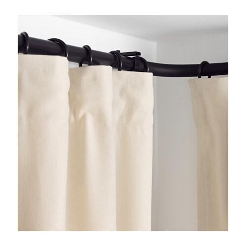 HUGAD Curtain rod corner connector Black - IKEA