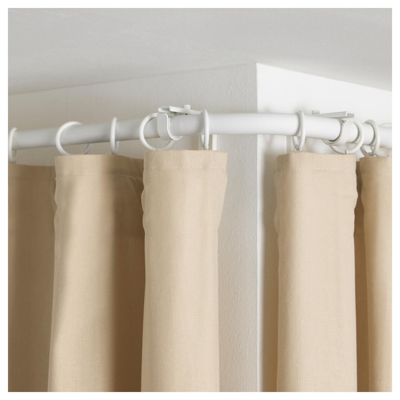 HUGAD Curtain rod corner connector White - IKEA