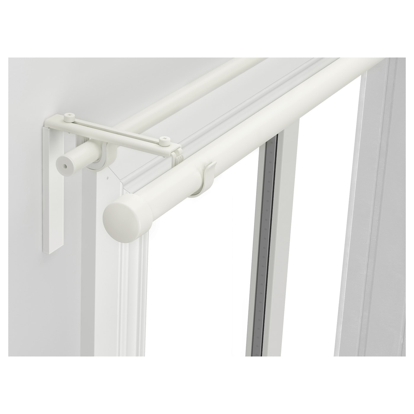 ikea hugadrcka double curtain rod combination the length is adjustable