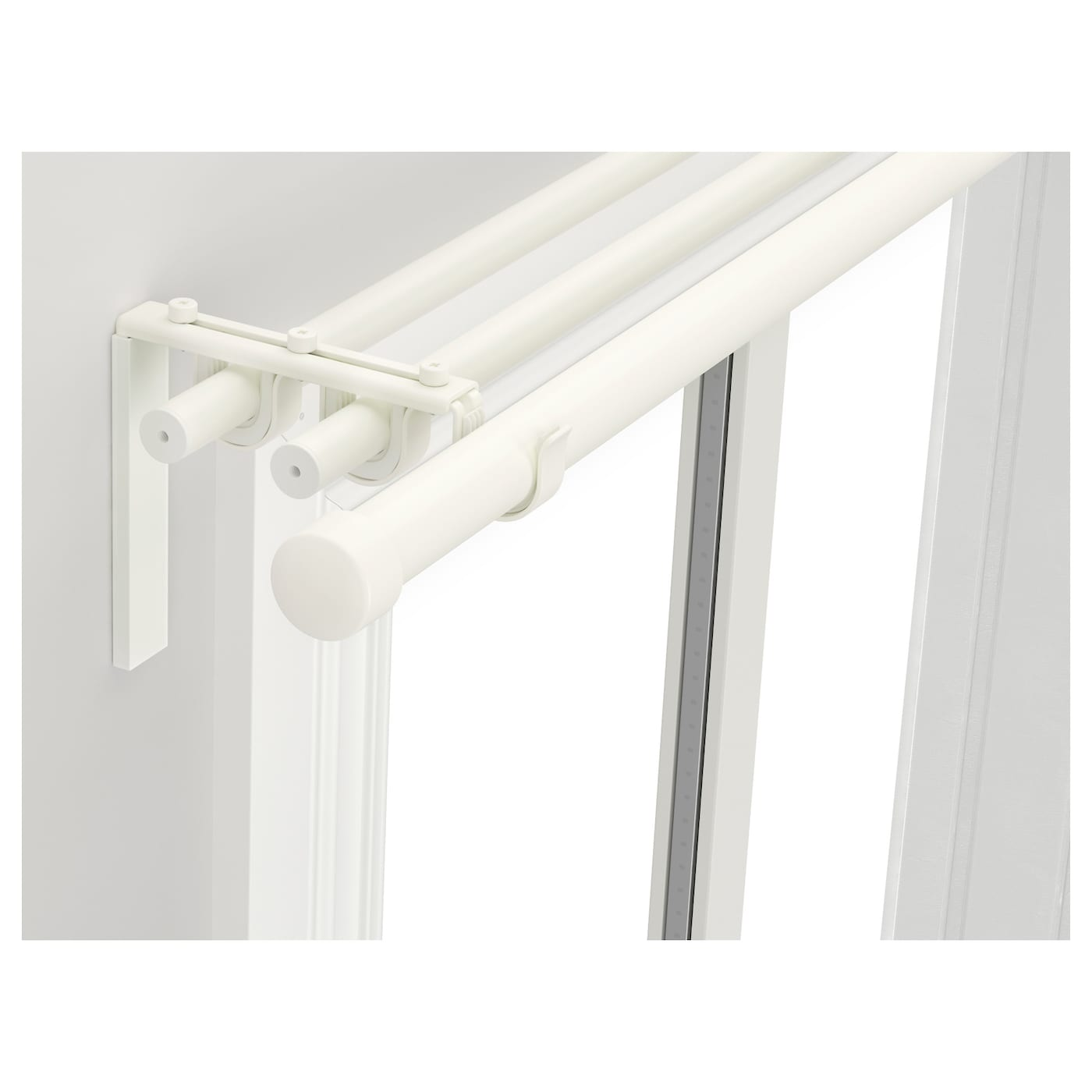 Ikea Hugad RÄcka Triple Curtain Rod Combination The Length Is Adjule