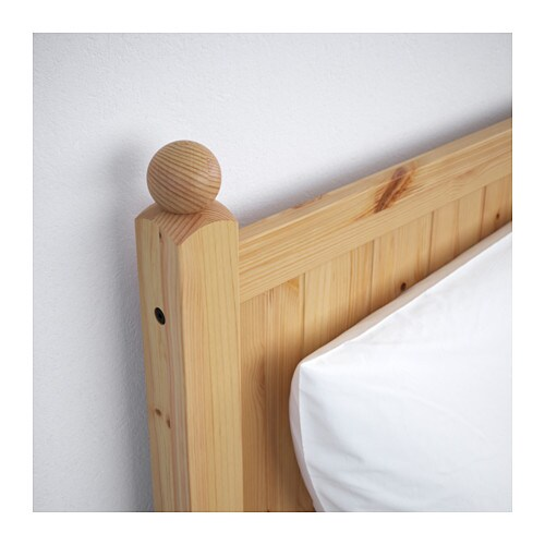 ikea hurdal bed frame made of solid wood which is a hardwearing and warm natural