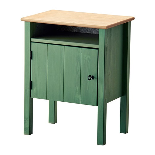IKEA HURDAL bedside table The door can be hung with the opening to the right or the left.