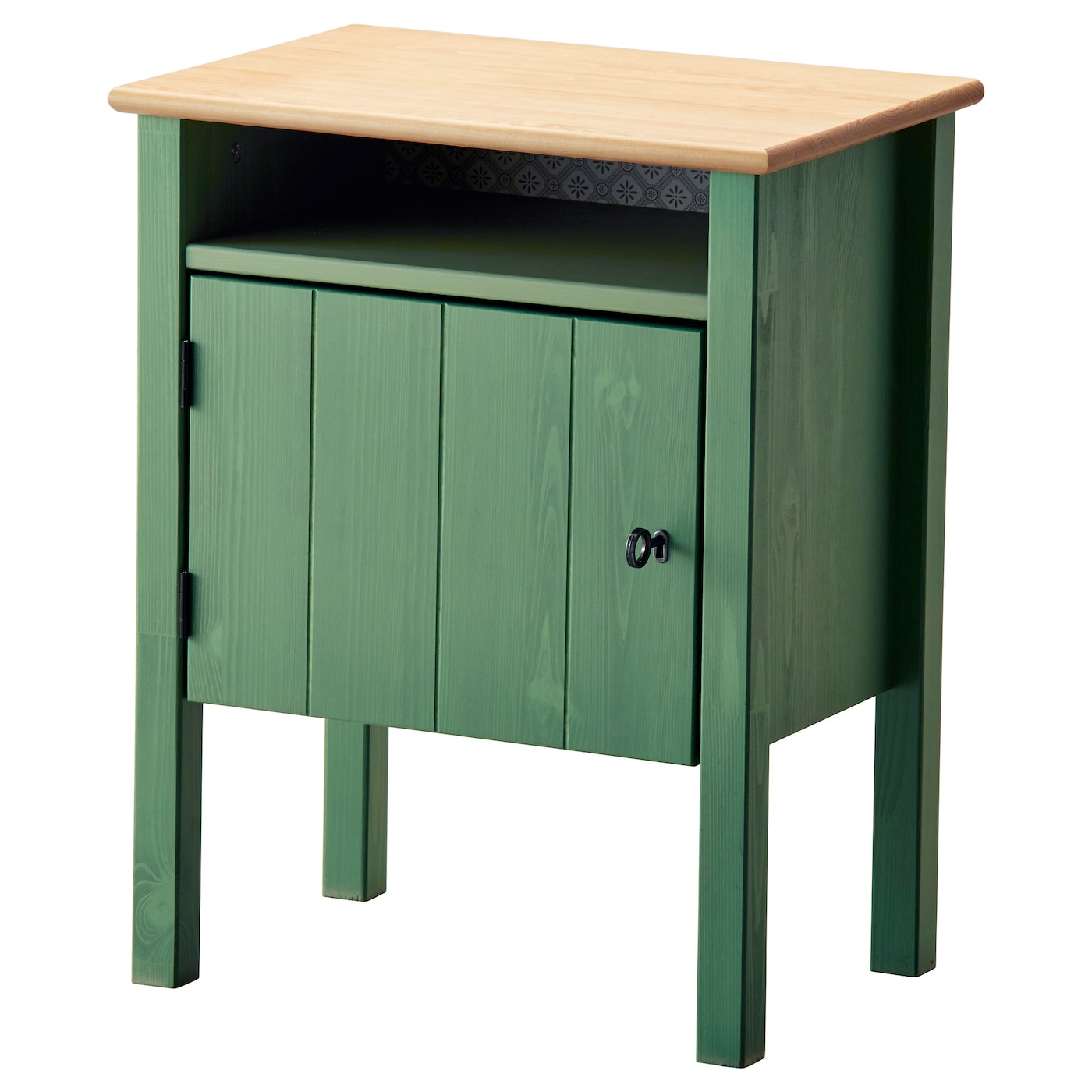 Hurdal bedside table green 49x34 cm ikea for Ikea green side table