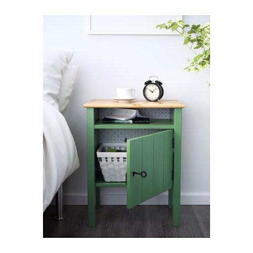 HURDAL Bedside table Green 49x34 cm - IKEA