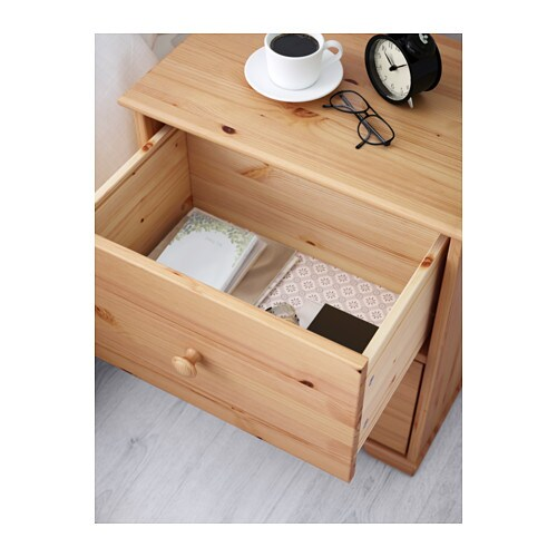 IKEA HURDAL chest of 2 drawers Plenty of room for all your things in the large drawers.