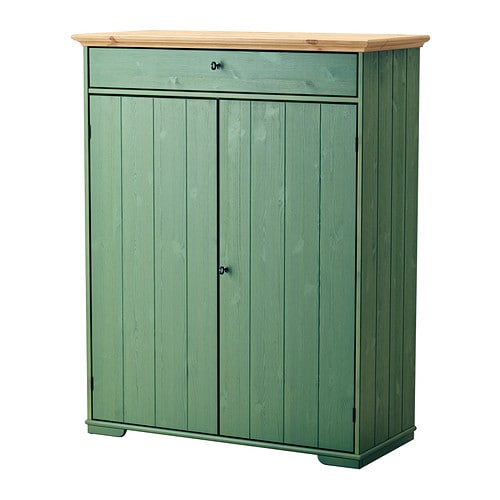 IKEA HURDAL linen cabinet The drawer slide smoothly and steadily on wooden gliders.