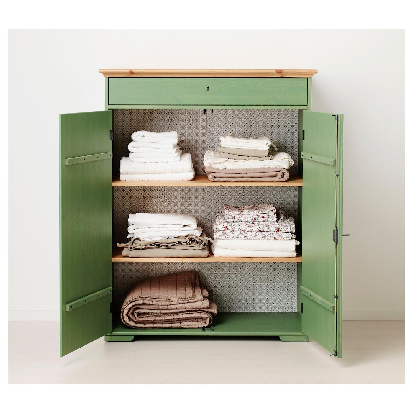 Hurdal Linen Cabinet Green 109 X 50 X 137 Cm Ikea