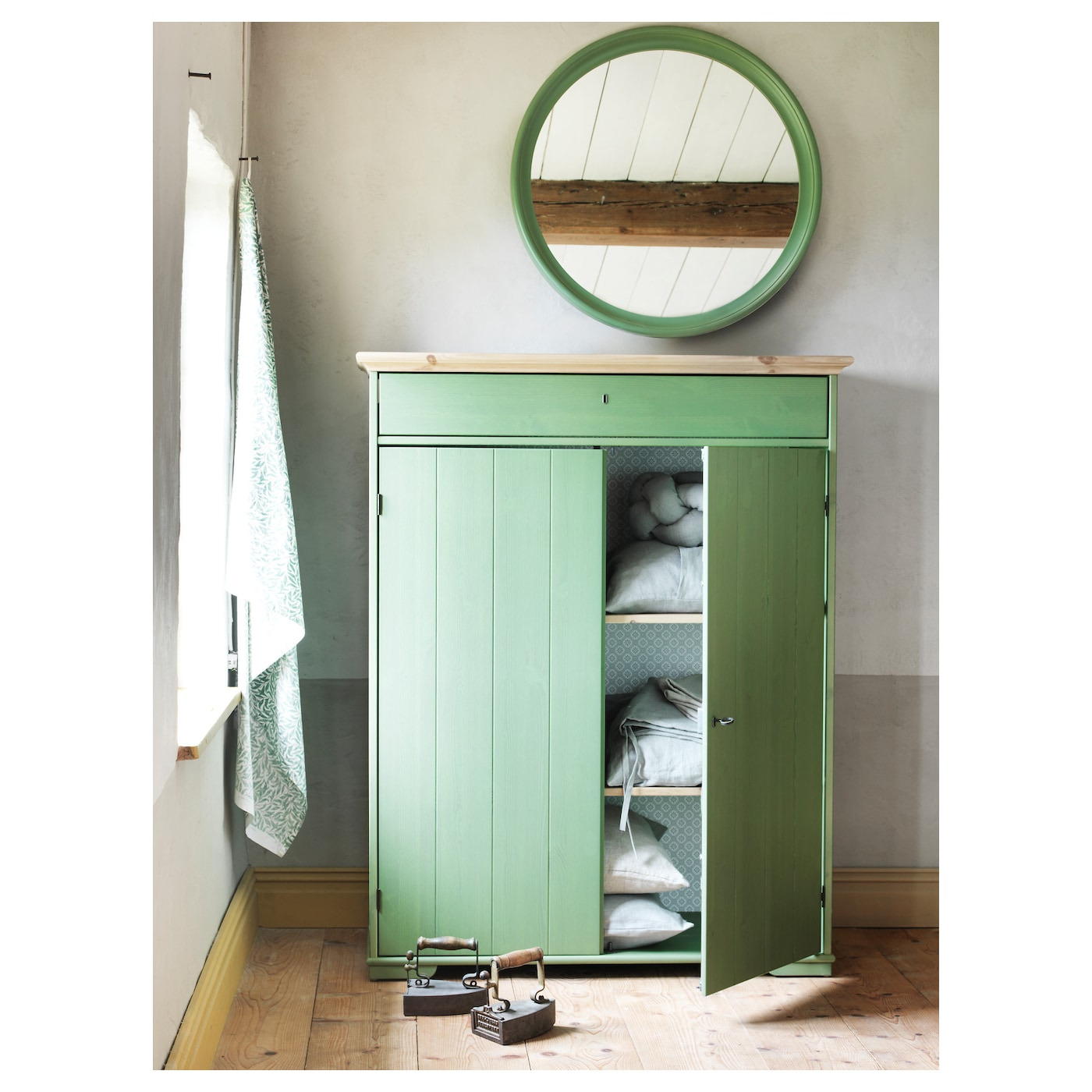 Ikea Hurdal Linen Cabinet The Drawer Slide Smoothly And Steadily On Wooden Gliders