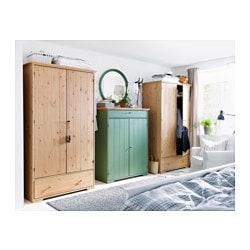 Hurdal Linen Cabinet Green 109x50x137 Cm Ikea