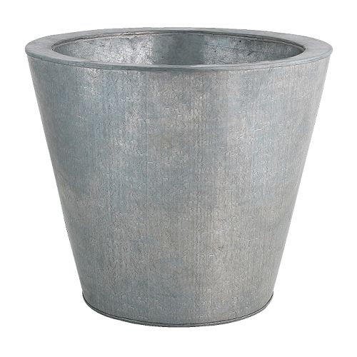 HUSÖN Plant pot IKEA Galvanized for rust resistance.