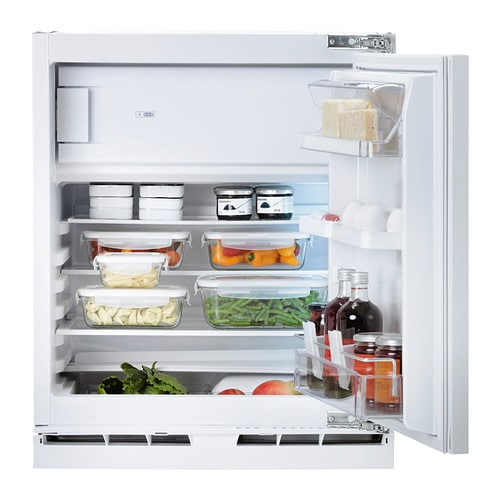 IKEA HUTTRA integrated fridge w freezer compart The door can be mounted to open left or right.