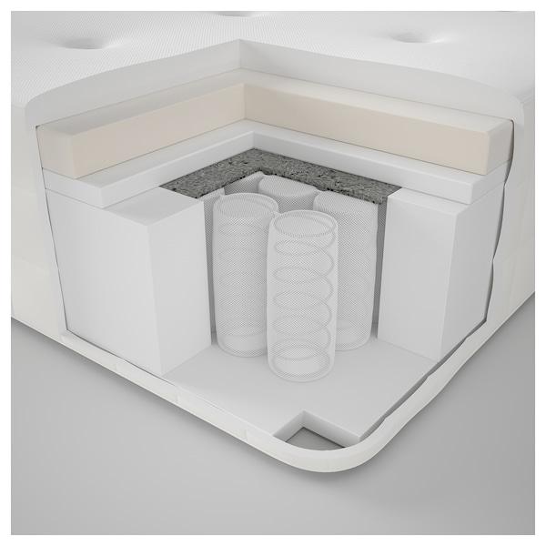 HYLLESTAD Pocket sprung mattress, firm/white, Standard Double