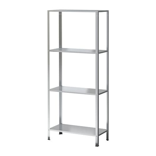 IKEA HYLLIS shelving unit The included plastic feet protect the floor against scratching.