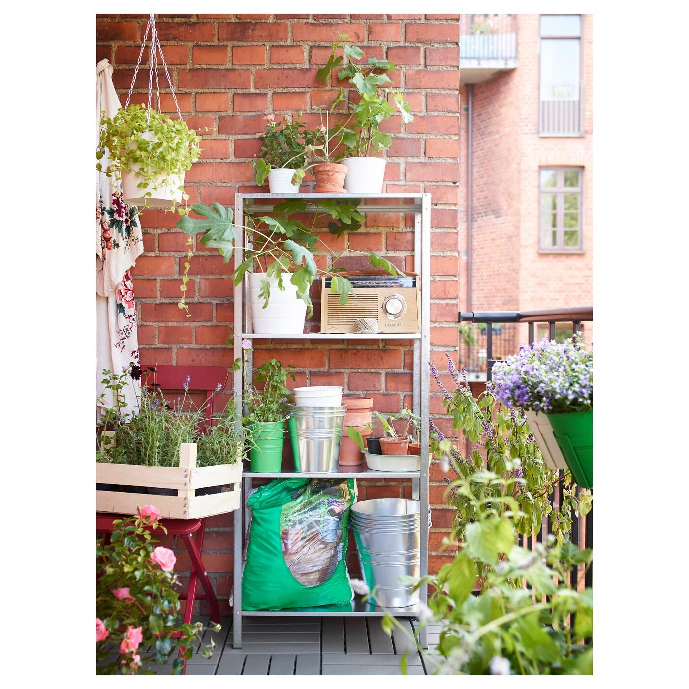 hyllis shelving unit in outdoor 60 x 27 x 140 cm ikea. Black Bedroom Furniture Sets. Home Design Ideas