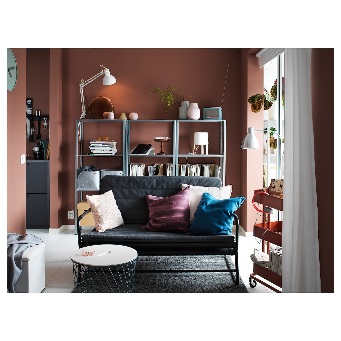 hyllis shelving unit in outdoor 60 x 27 x 140 cm ikea. Black Bedroom Furniture Sets. Home Design Ideas