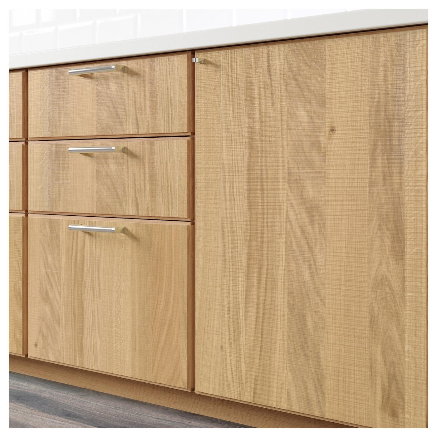 hyttan 2 p door f corner base cabinet set oak veneer 25x80 cm ikea