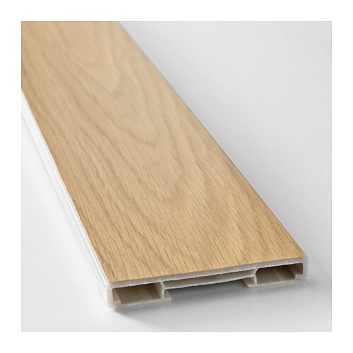 Hyttan plinth oak veneer 220x8 cm ikea for Kitchen units without plinths