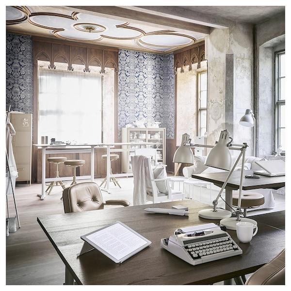 IDÅSEN Desk sit/stand, brown/beige, 160x80 cm