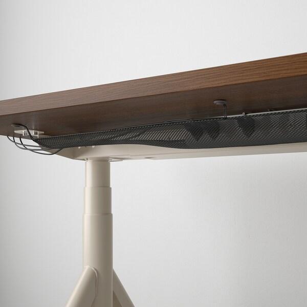 IDÅSEN desk sit/stand brown/beige 160 cm 80 cm 62 cm 127 cm 70 kg