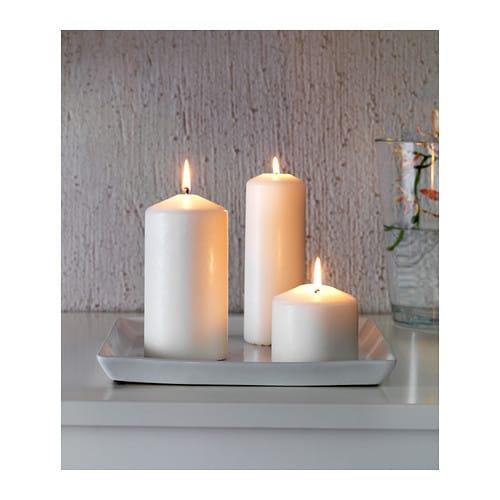 Ideal candle dish white 25x25 cm ikea for Stufa candele ikea