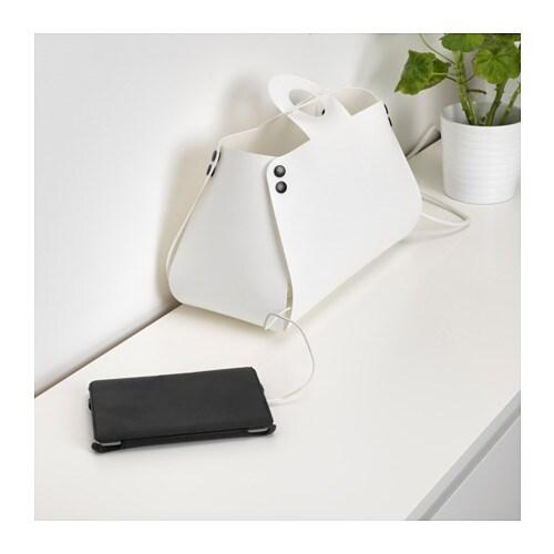 idebo cable management bag white ikea. Black Bedroom Furniture Sets. Home Design Ideas