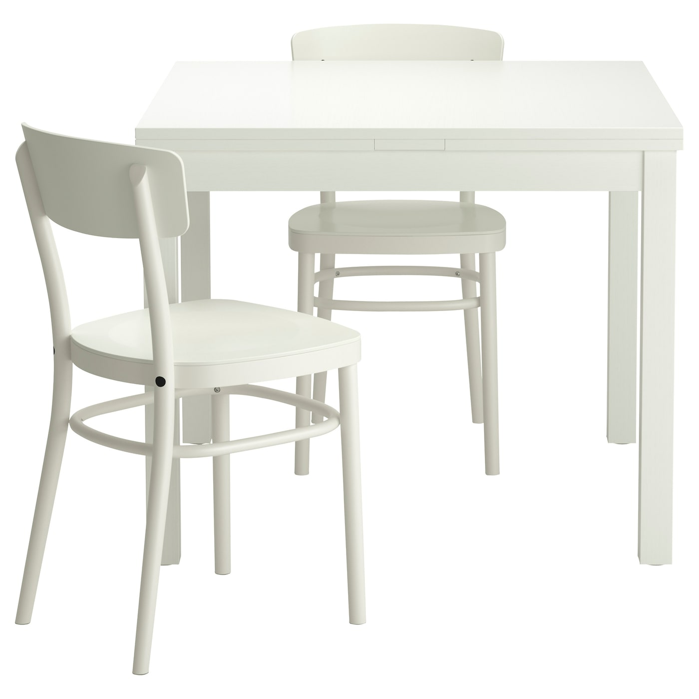 IKEA IDOLF/BJURSTA Table And 2 Chairs The Clear Lacquered Surface Is Easy To