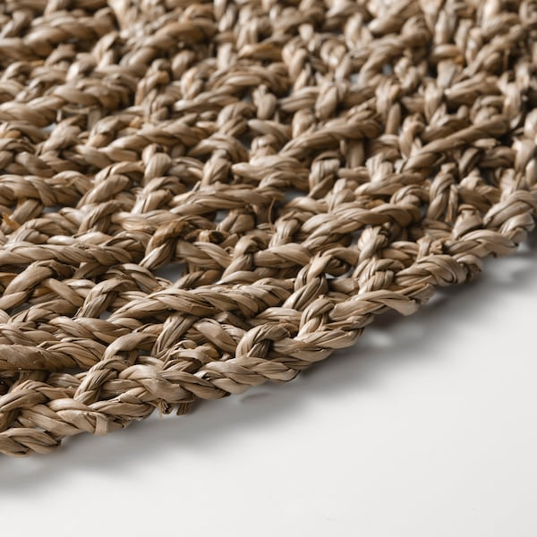 IHÅLLIG Place mat, natural/seagrass, 37 cm