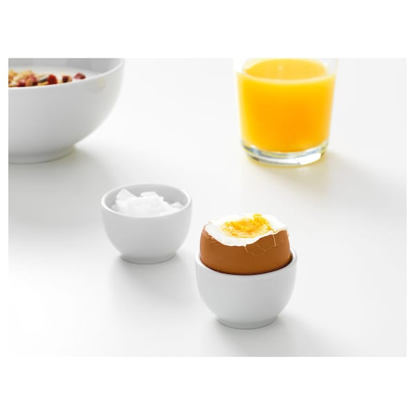 IKEA 365+ bowl/egg cup rounded sides white 3 cm 5 cm 2 pack