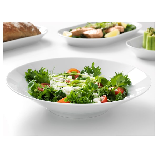 IKEA 365+ bowl angled sides white 6 cm 28 cm
