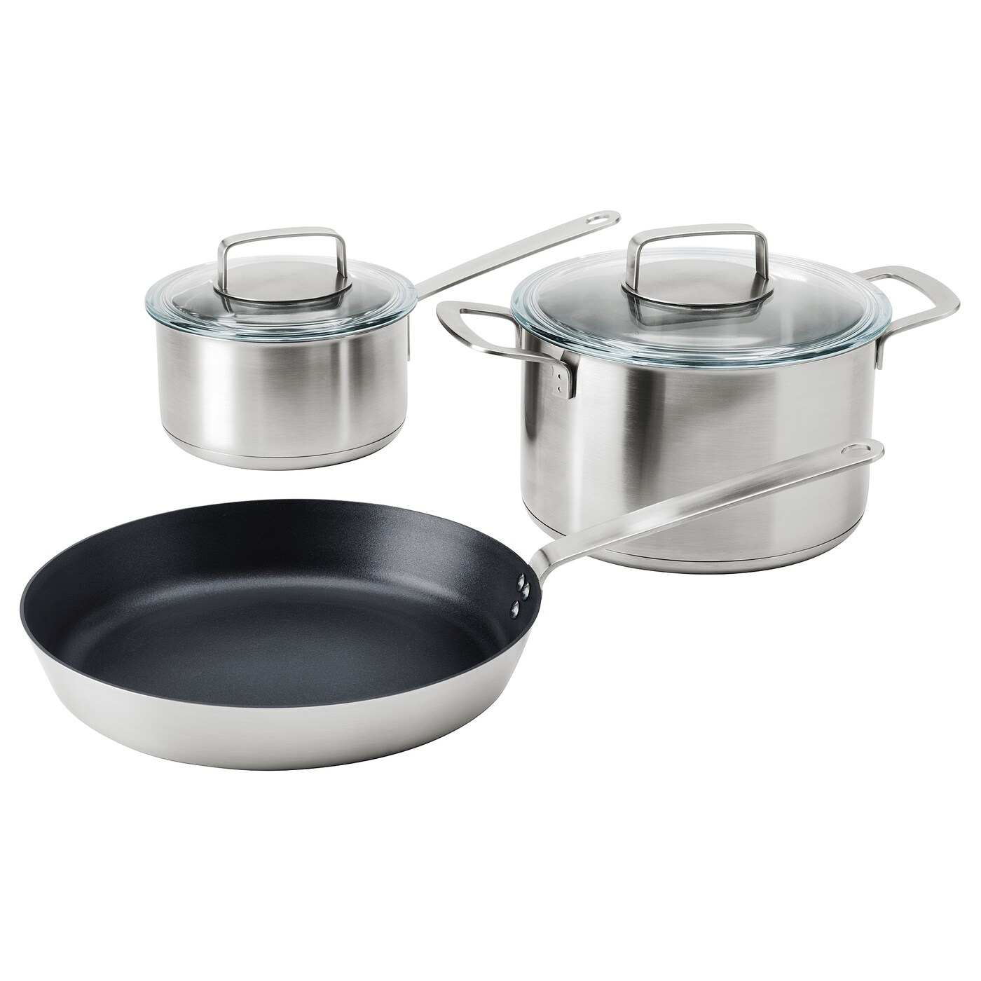 IKEA IKEA 365+ 5-piece cookware set Works well on all types of hobs, including induction hob.