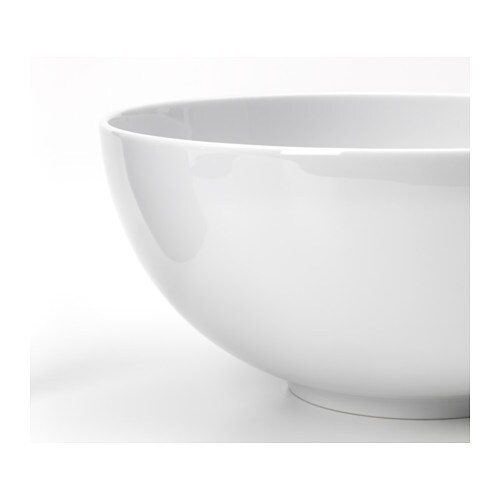 IKEA IKEA 365+ bowl Made of feldspar porcelain, which makes the bowl impact resistant and durable.