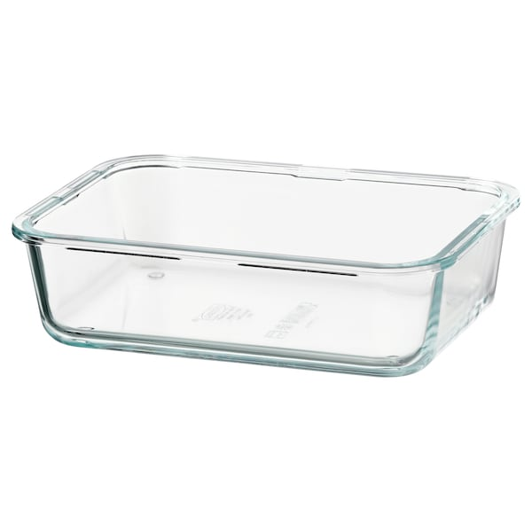 IKEA 365+ Food container, rectangular/glass, 1.0 l
