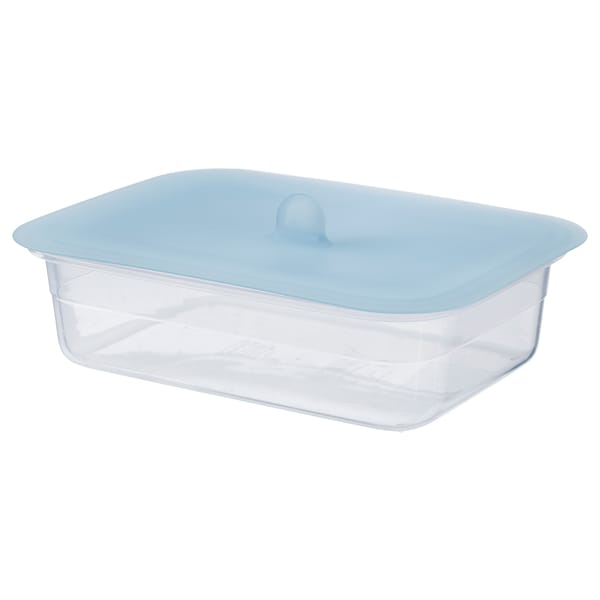 IKEA 365+ Food container with lid, rectangular plastic/silicone, 1.0 l
