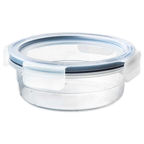 IKEA 365+ Food container with lid, round/plastic, 450 ml