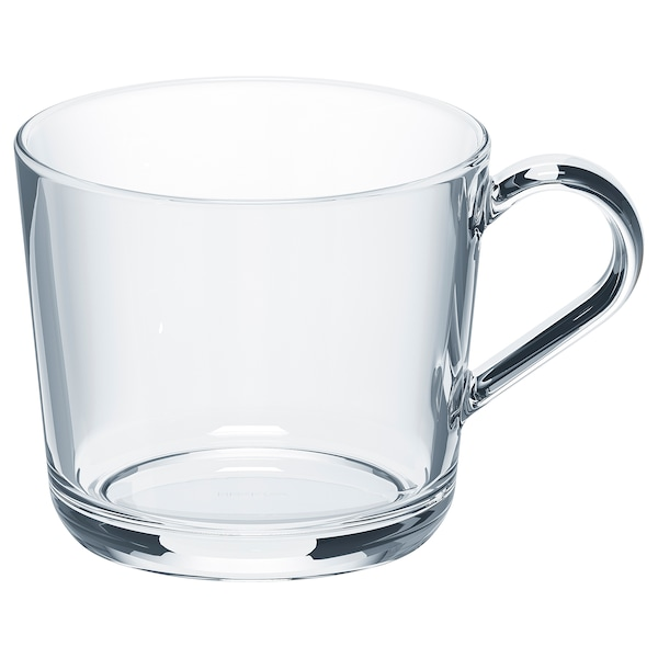 IKEA 365+ Mug, clear glass, 36 cl