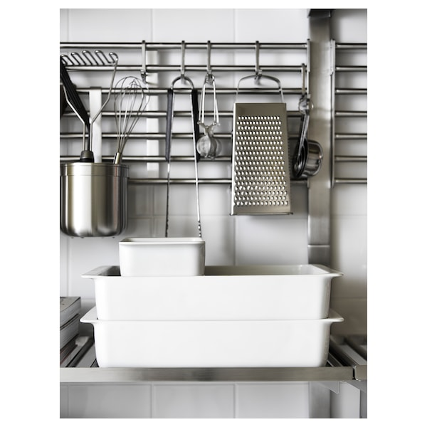 IKEA 365+ Oven dish, white, 18x13 cm
